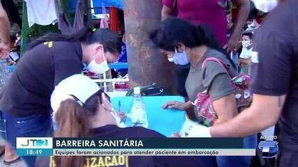 Passageiro passa mal com sintomas de covid-19 em embarcação que saiu de Manaus para o Pará