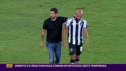 Derrota é o resultado mais comum para o Botafogo na temporada