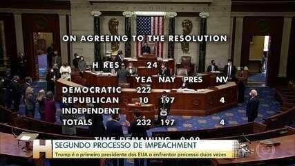 Líder republicano diz que processo de impeachment de Trump no Senado será depois da posse