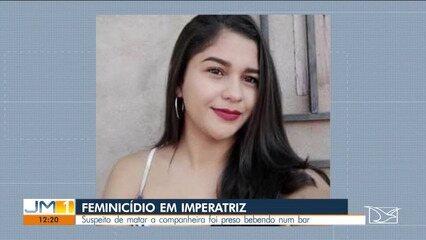 Suspeito de matar a companheira foi preso bebendo num bar em Imperatriz