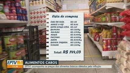 Preços dos alimentos são afetados por aumento da inflação
