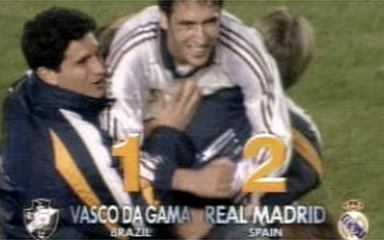 Em 1998, melhores momentos de Real Madrid 2 x 1 Vasco, pela final do Mundial de Clubes