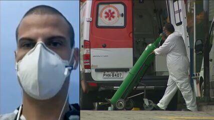 'A realidade é aterrorizante. Oxigênio acabar é de perder a fé', diz médico de Manaus