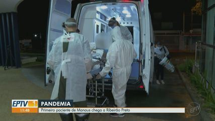Primeiro paciente transferido de Manaus chega a Ribeirão Preto, SP