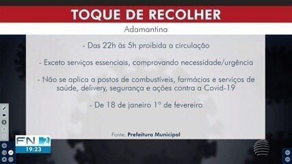 Para conter avanço da pandemia, Prefeitura decreta toque de recolher em Adamantina