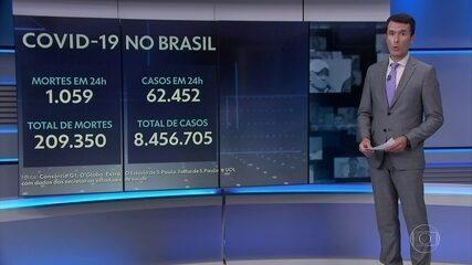 Números da pandemia de Covid no Brasil atualizados pelo Consórcio de Veículos de Imprensa