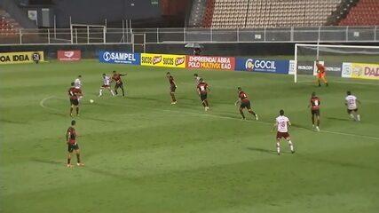O gol da vitória do Vila Nova sobre o Ituano, pela Série C