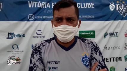 Técnico Cláudio Roberto analisa único teste do Vitória-ES antes da Copa verde