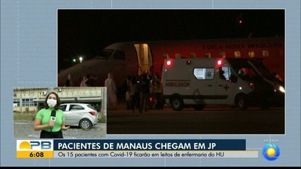Pacientes de Manaus chegam ao HU de João Pessoa para tratamento da Covid-19