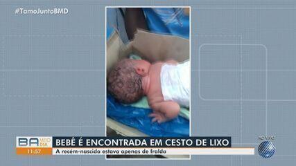 Bebê é encontrado dentro de contêiner de lixo no bairro de Mussurunga, na capital baiana