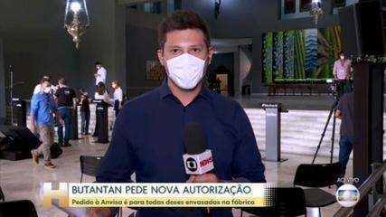 Butantan envia à Anvisa pedido para uso emergencial de doses da CoronaVac envasadas no instituto