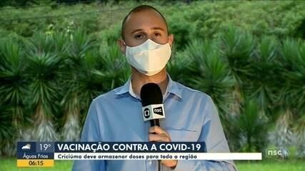 Criciúma deve armazenar doses de vacina para a região