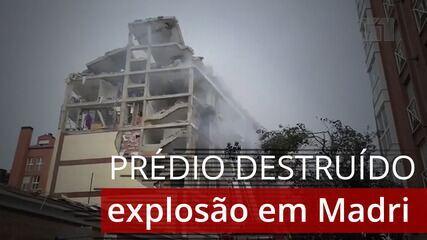 VÍDEO: forte explosão destrói prédio em Madri