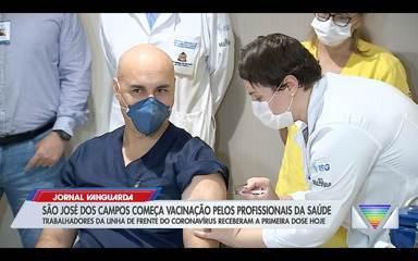 São José dos Campos começa vacinação pelos profissionais da linha de frente contra Covid