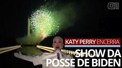 Katy Perry encerra especial que celebra posse de Joe Biden e Kamala Harris