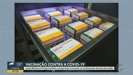 Santa Bárbara d'Oeste também começa a imunizar os profissionais da área da saúde