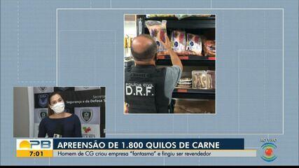 Polícia Civil apreende mais de 1,8 mil quilos de carne roubada, na Paraíba