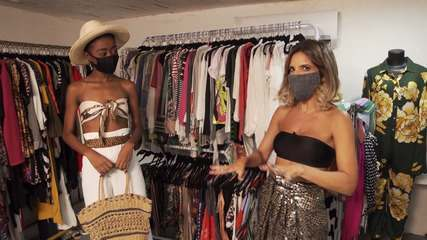Paulinha Magalhães promove um desafio fashion em um brechó novo da capital baiana