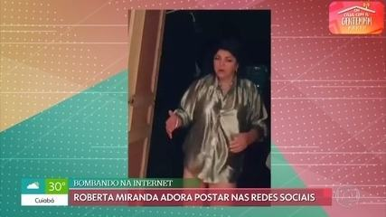 Roberta Miranda comenta posts polêmicos nas redes sociais e canta 'Vá com Deus'
