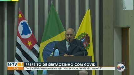 Com Covid-19, prefeito de Sertãozinho é transferido para o HC com embolia pulmonar