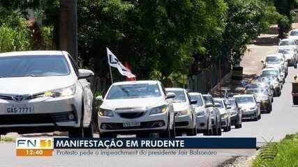 Carreata em Presidente Prudente pede impeachment de Jair Bolsonaro