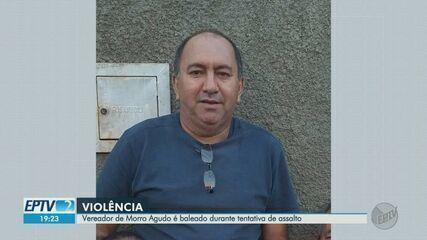 Vereador de Morro Agudo, SP, é baleado durante tentativa de assalto