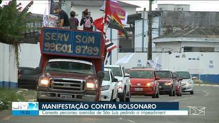 Manifestação contra o presidente Jair Bolsonaro é realizada em São Luís