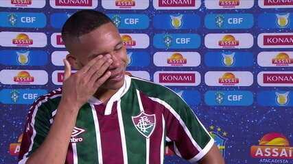 "Wellington Silva se emociona após gol sobre o Botafogo e desabafa diante de críticas: ""Sempre dei a vida"""