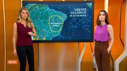 Temporal pode atingir todo o estado de Santa Catarina nesta segunda-feira