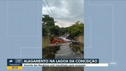 Florianópolis: Vídeo mostra força da água atingindo casas na Lagoa da Conceição