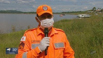 Uma pessoa morre e outra fica ferida em acidente entre lancha e moto aquática no Lago de Furnas, em Fama (MG)