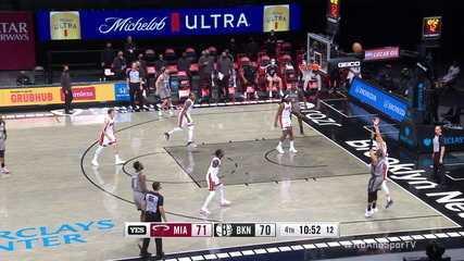 Melhores momentos: Brooklyn Nets 98 x 85 Miami Heat, pela NBA