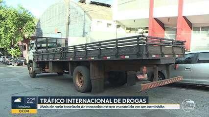 Polícia Civil apreende meia tonelada de droga escondida em caminhão