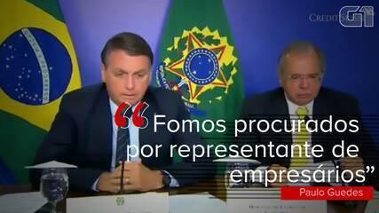 O presidente Jair Bolsonaro defende que empresas privadas comprem vacinas contra a Covid-19