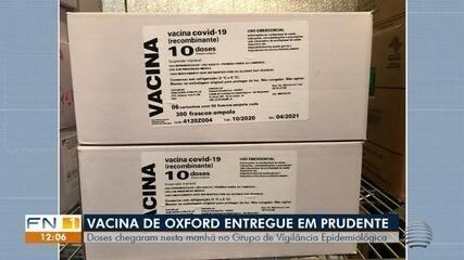 Vacina de Oxford chega a Presidente Prudente