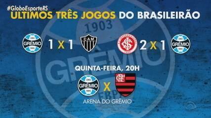 Grêmio terá o Flamengo na próxima rodada do Brasileirão em busca da remobilização