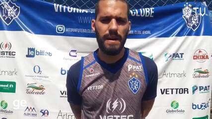Igor Pimentel comenta sobre o processo de renovação do elenco do Vitória-ES