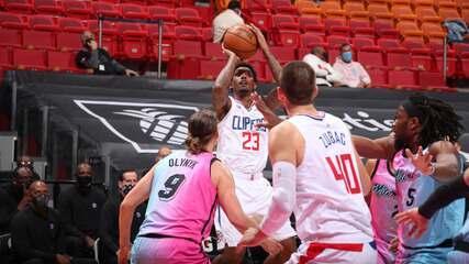 Melhores momentos: Miami Heat 105 x 109 Los Angeles Clippers pela NBA