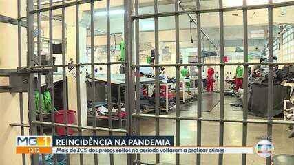 Quase 34% dos presos soltos durante a pandemia praticaram novos crimes