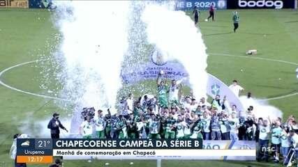 Chapecoense comemora título na Série B