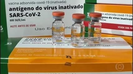 5,4 mil litros de insumo da vacina CoronaVac devem chegar a SP na noite de quarta-feira