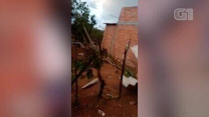 Chuva de granizo causa estrago no município de Cristino Castro no Sul do Piauí