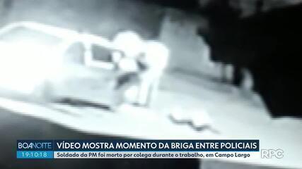 Vídeo mostra momento de desentendimento entre PMs, em Campo Largo