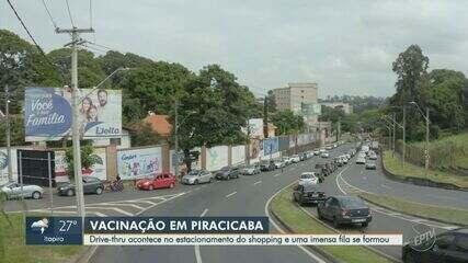 Idosos com mais de 90 anos começam a ser vacinados contra Covid-19 em Piracicaba