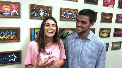 Felipe Simas e Mariana Uhlmann falam da personalidade dos filhos