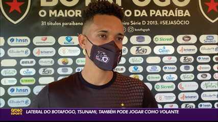 Tsunami conta como vai poder ajudar o Botafogo-PB dentro de campo