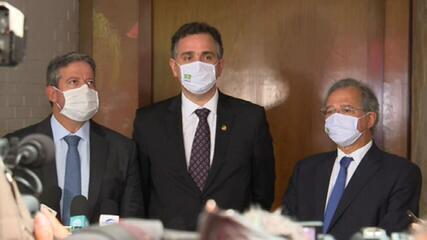 Após almoço com Guedes, presidência do Congresso diz que prioridades são vacina e auxílio emergencial