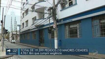 Pedidos para benefícios do INSS se acumulam em cidades da região de Campinas