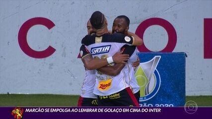 Marcão se empolga ao lembrar de gol pelo Sport contra Internacional