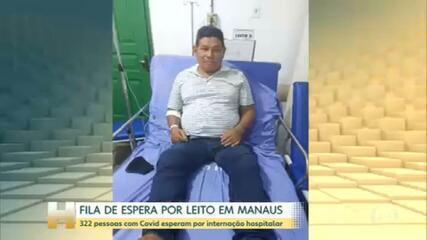 322 pessoas com Covid esperam por leitos no Amazonas